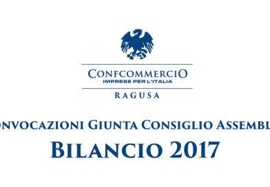 Convocazioni Giunta Consiglio Assemblea – Bilancio 2017