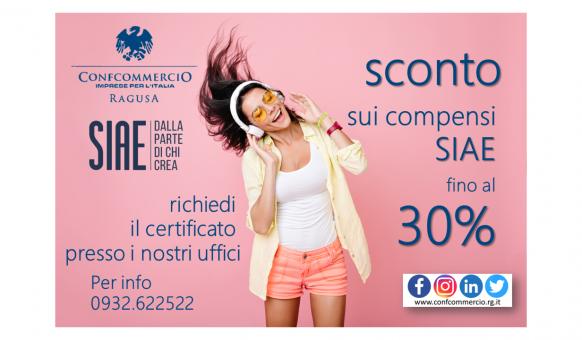 "CONVENZIONE COMPENSI SIAE 2019 ""MUSICA D'AMBIENTE"""