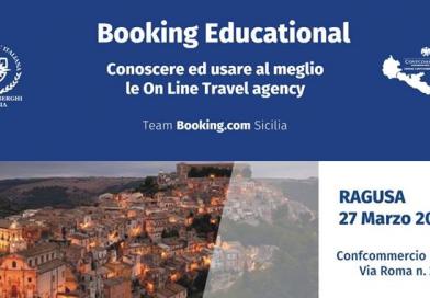 Booking Education: conoscere ed usare al meglio le OTA. MERCOLEDÌ 27 MARZO ORE 15:30 presso la sede provinciale Confcommercio  Ragusa