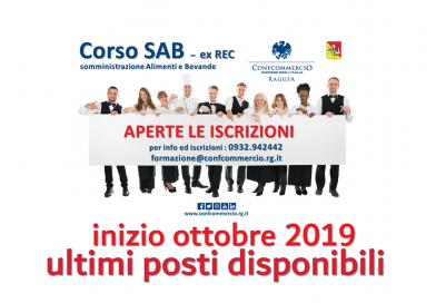Corso SAB (ex REC)  Somministrazione Alimenti e Bevande – ULTIMI POSTI DISPONIBILI