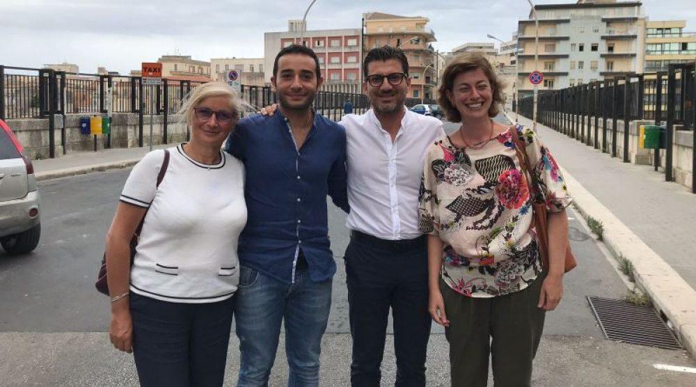 Nella foto, da sinistra, Chiaramonte, Tomasi, Palladino e Schininà