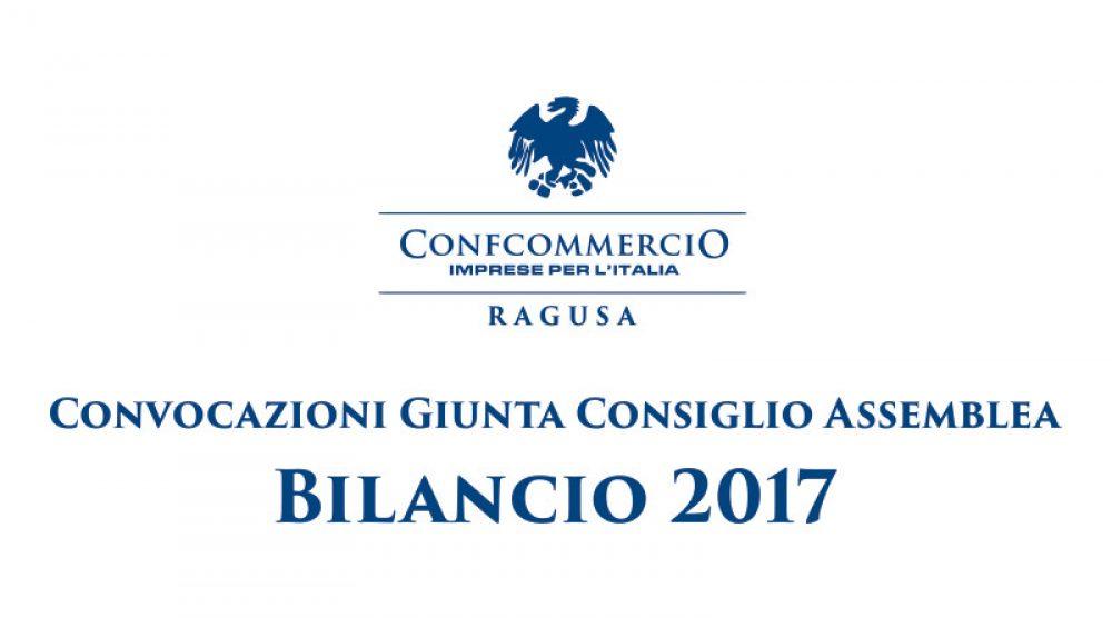 Convocazioni Giunta Consiglio Assemblea - Bilancio 2017