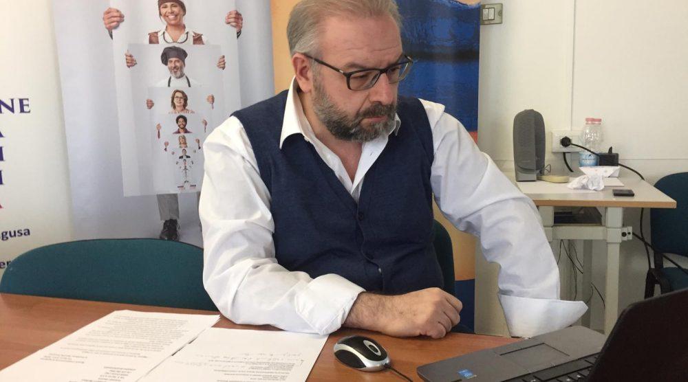 Il presidente provinciale Confcommercio Ragusa Gianluca Manenti foto tre