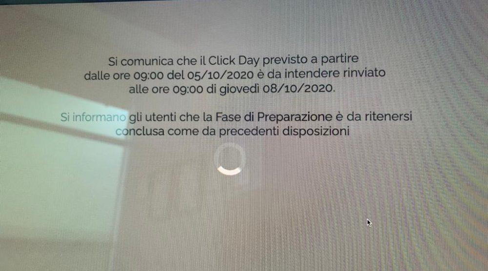 La comunicazione odierna del click day