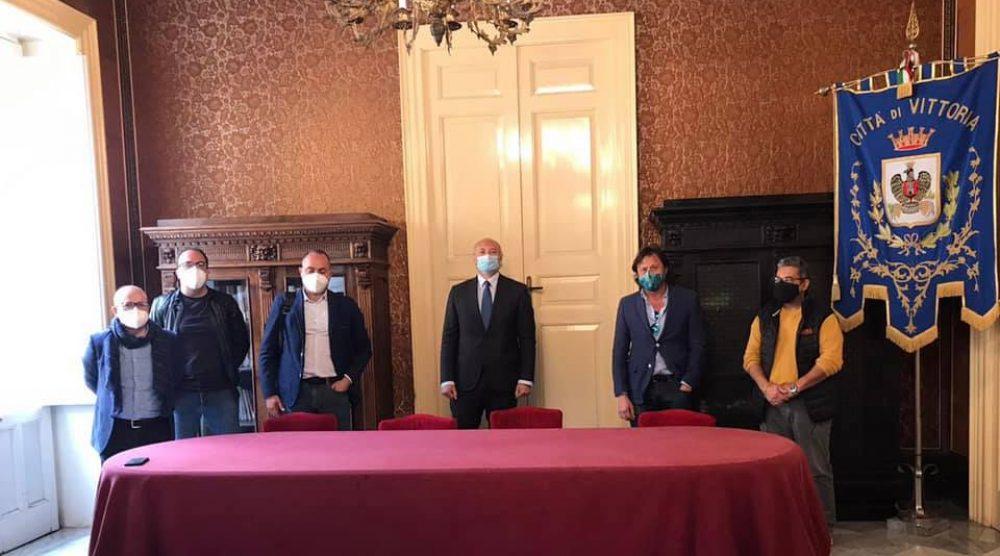 L'incontro del maggio scorso a palazzo Iacono